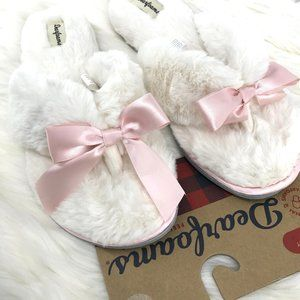 NEW🌸DEARFORMS Fluffy Thong Bow Slippers